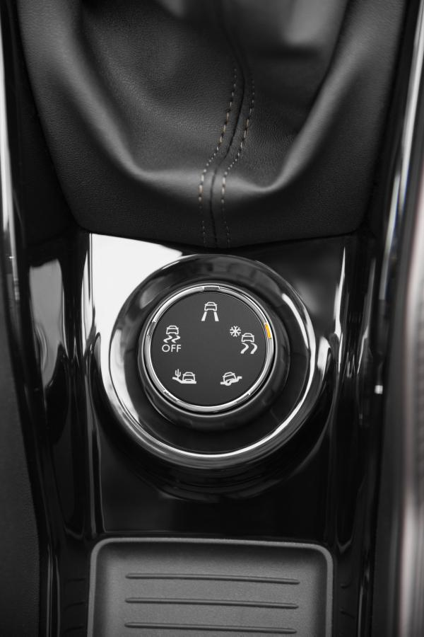 The Peugeot Grip Assist system is controlled by a neat dial placed beside the gear lever.