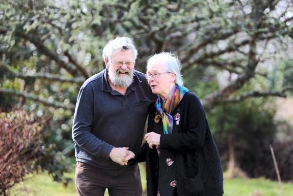 A touching moment...Norman and Veronica Steele, sharing a laugh together. Photo:Valerie O'Sullivan