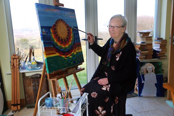 Veronica Steele, an inspirational woman with many talents which include, cheese maker, philosopher and 'leaper', she enjoys painting at her home outside Eyeries, on The Beara Peninsula, West Cork.Photo:Valerie O'Sullivan