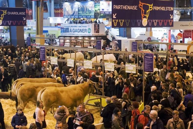 French beef breeders exhibit at the Paris Agricultural Show this year.