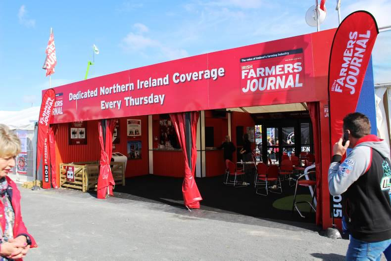 Irish Farmers Journal stand at the Balmoral Show 2015.