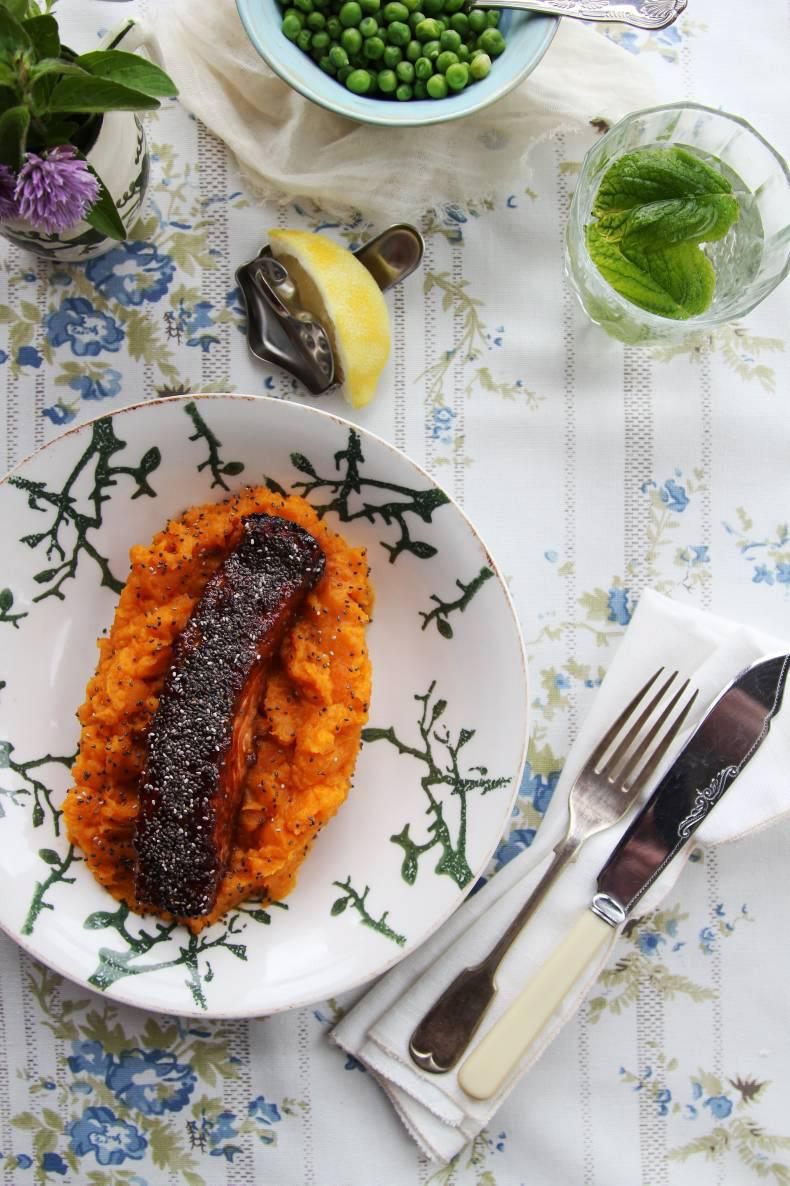 Nessa Robins' chia crusted salmon for hay fever. Credit: Nessa Robins