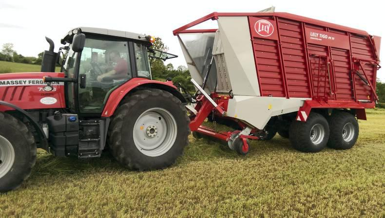 The Lely Tigo silage wagon being tested in Gurteen.