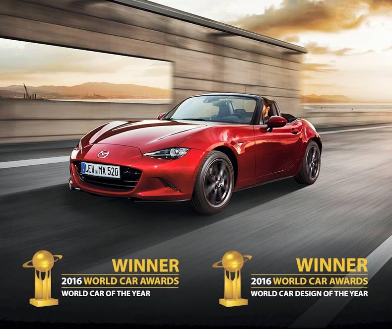 The New Mazda Mx 5 Has Won Award Of World Car 2016