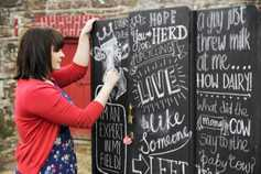 Create this farm-inspired blackboard wardrobe with Joanne Condon's top tips