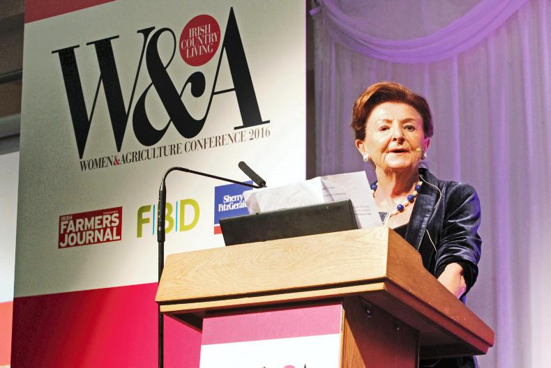 Breege O'Donoghue, ambassadorial role, Primark, speaks to the 600 plus guests at the Women & Agriculture conference.