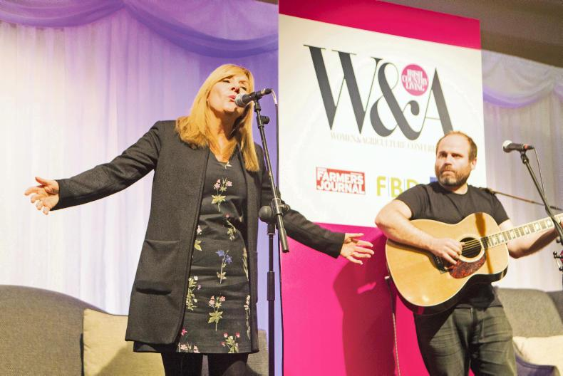 Frances Black performing at the Women & Agriculture conference.