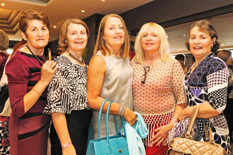 The five Sheehan sisters from Mountcollins, Co Limerick, all enjoying their day at the Women & Agriculture Conference.