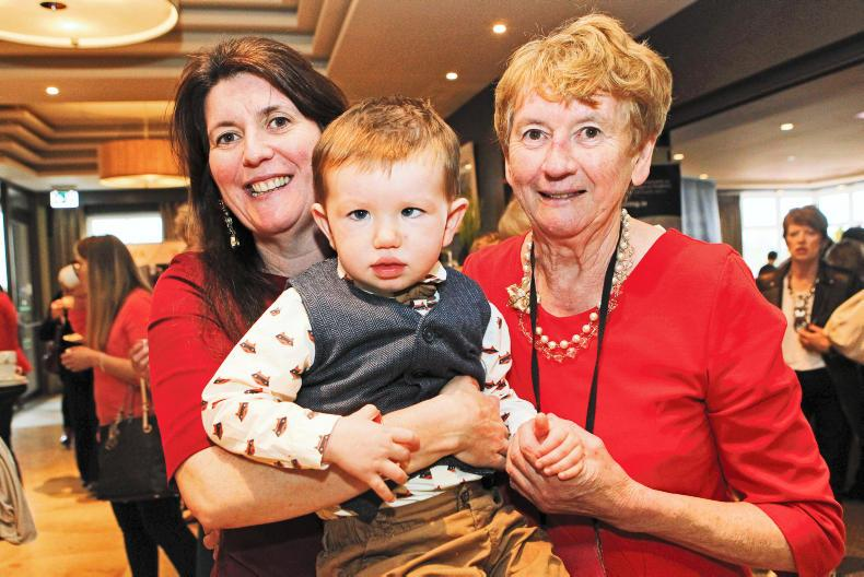 Kathleen Henry with her mother Kathleen Henry and son James Wall, all from Sligo, enjoying the Women & Agriculture Conference.