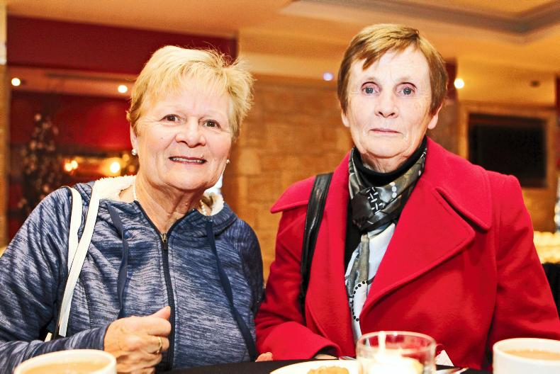 Noreen O'Keefe, Newmarket, Co Cork, and Patsy O'Leary, Newmarket, Co Cork, at the Women & Agriculture conference.