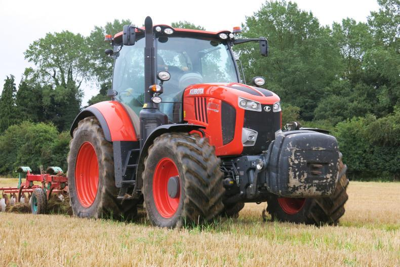 In the field, the Kubota got the power to the ground and tackled some heavy tramlines with a Kverneland cultivator.