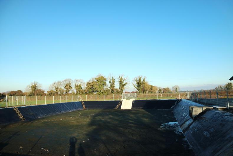 4. The slurry flows into a lagoon, which has the capacity for 1.2m gallons.