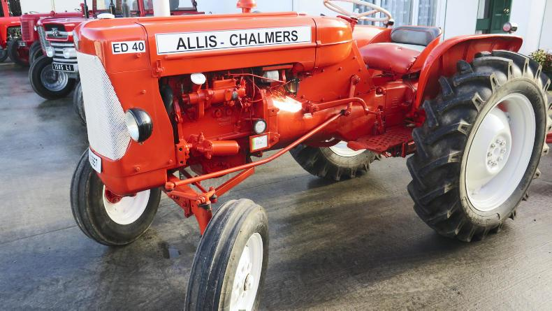 Michael O'Neill's early 1960's Allis Chalmers ED40 tractor.