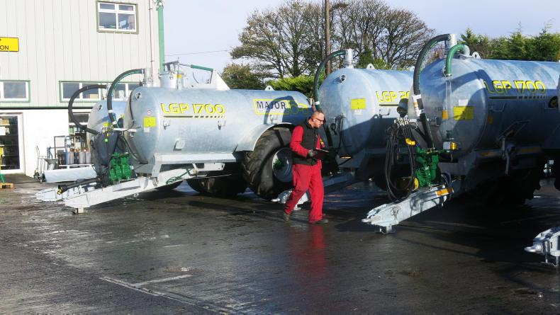 A selection of Major slurry tankers goes through inspection before delivery