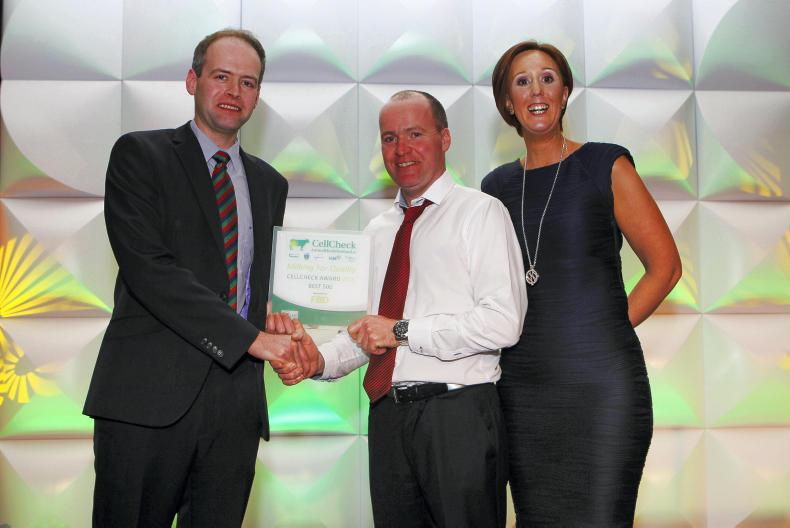 LacPatrick: Michael and Colleen Rooney of Sheetrim, Monaghan receiving their Award from Paul Crosson, LacPatrick.