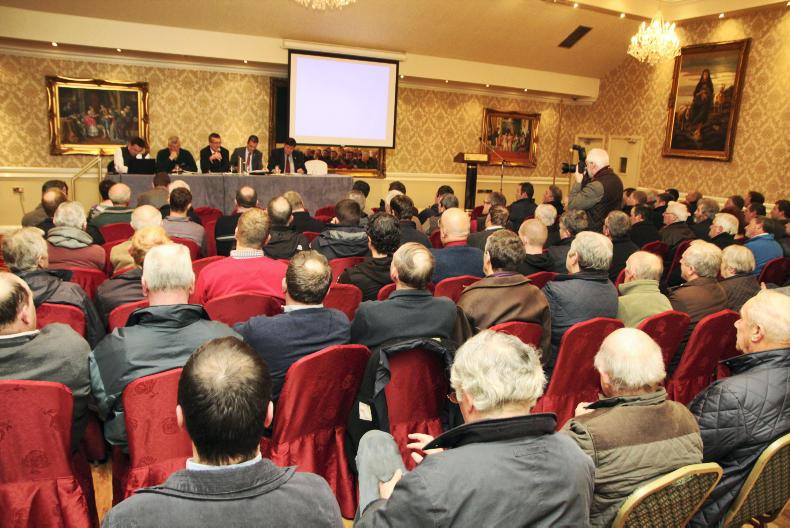 IFA beef meeting in Nenagh, Co Tipperary