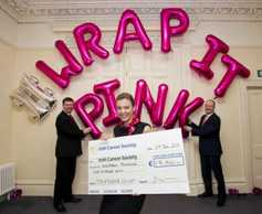 Pink bales raise €17,500 for charity