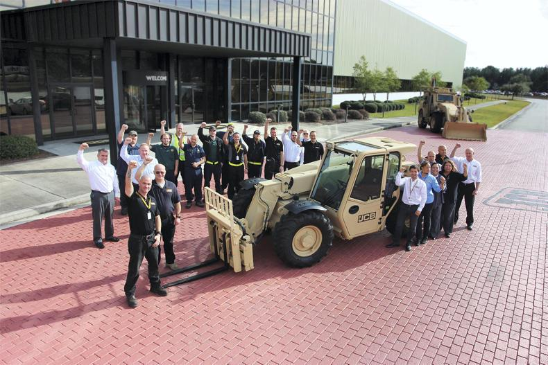 JCB has just secured the second-biggest order ever in the company's 71-year history to supply the US army with 1,600  527-58M rough terrain forklifts.