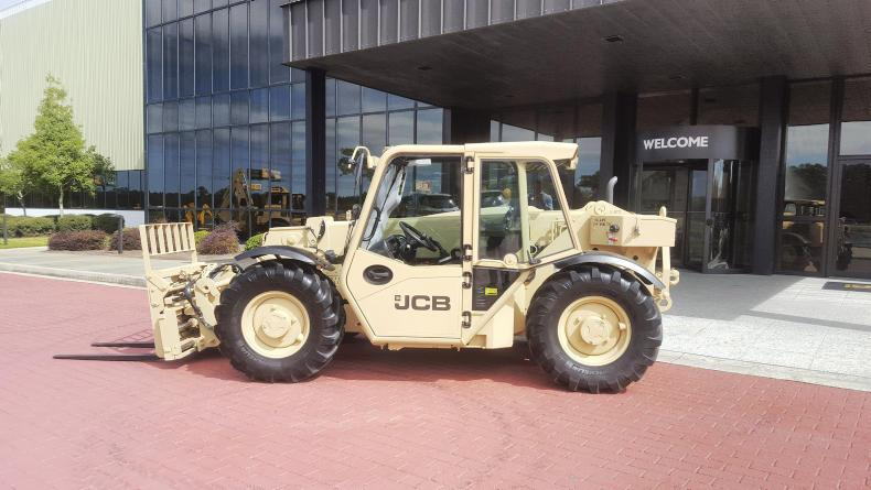The new 527-58M light-capability rough-terrain forklifts will be produced at JCB's North American headquarters in Savannah,, Georgia.