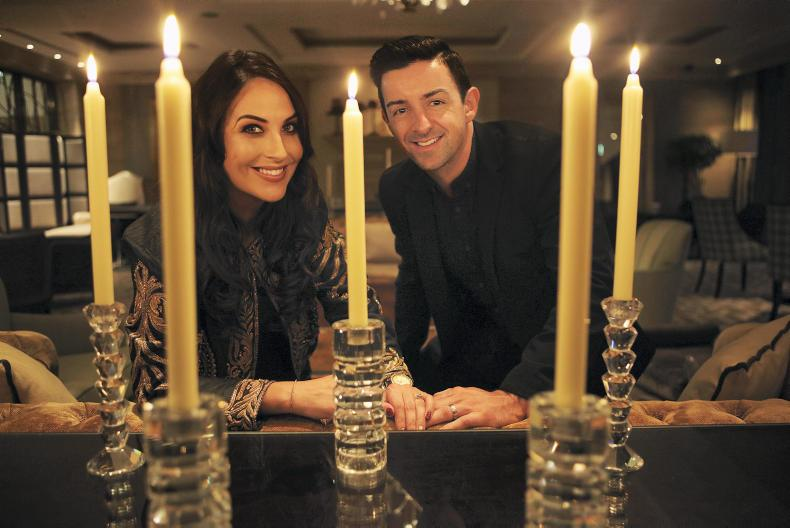Popular Dancing with the Stars contestant and Former Kerry All-Ireland Football Champion Aidan O'Mahony with his wife Denise Healy taking a well deserved ...