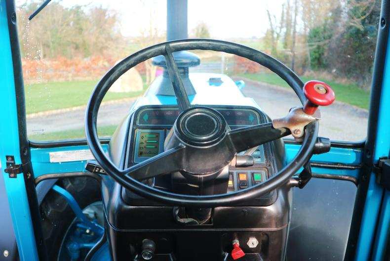 A common view for many over the years from the Super Q cab, the digital dash was new to the series 2.