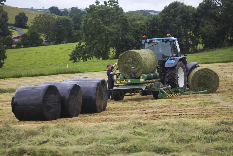 Making silage in Monaghan last year.