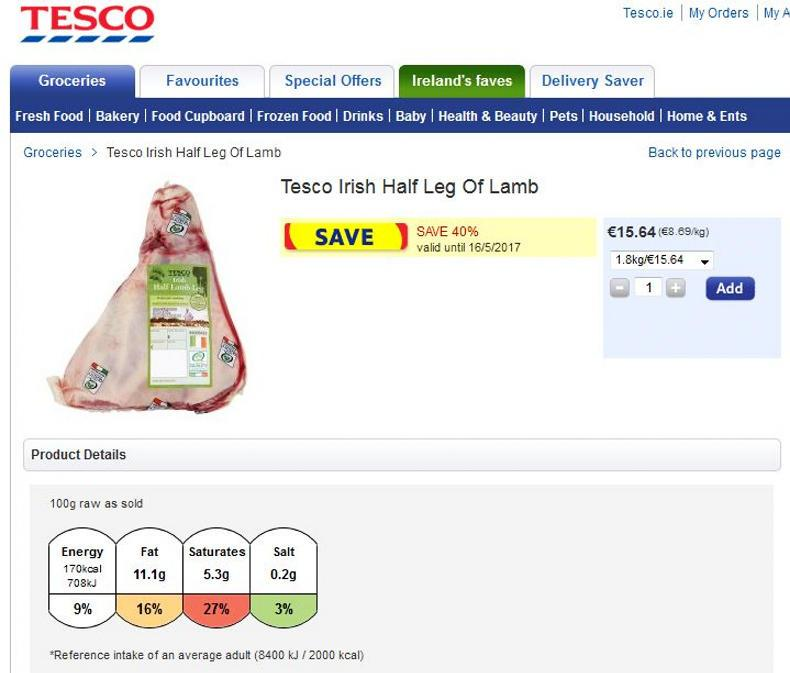 The ICSA has described Tesco's lamb promotion as below-cost selling.