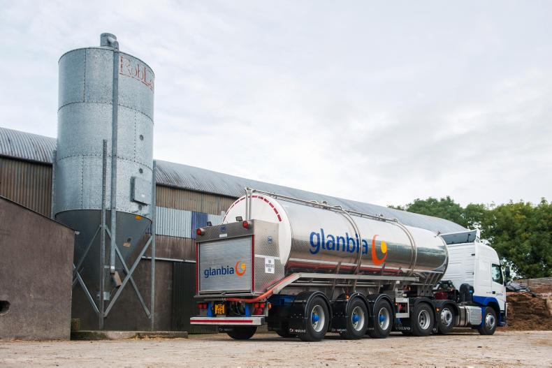 Glanbia milk tanker.
