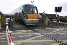 Trains delayed after tractor destroys level crossing gates in Kildare
