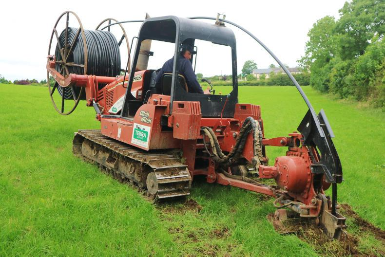 Mole plough being used to lay more heavy duty piping to service more paddocks.