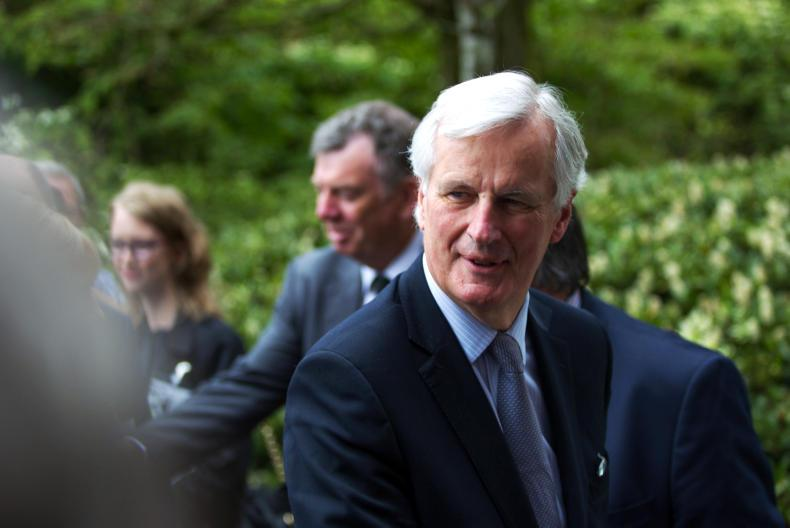 The EU's Chief Brexit Negotiator Michel Barnier pictured on a visit to Lough Egish Food Park in Co Monaghan in May.