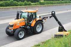 Orange motorway trimming fleet