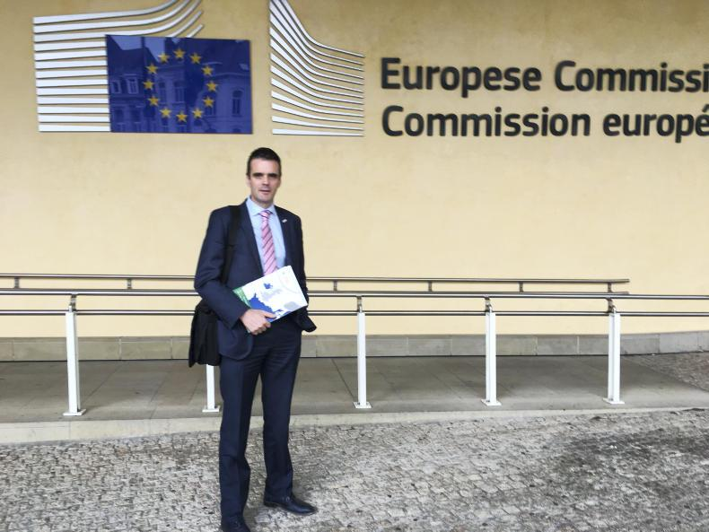IFA President Joe Healy after his meeting with EU lead Brexit negotiator Michel Barnier at the EU Commission in Brussels