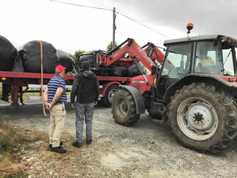 In pictures: silage moves to Donegal after floods