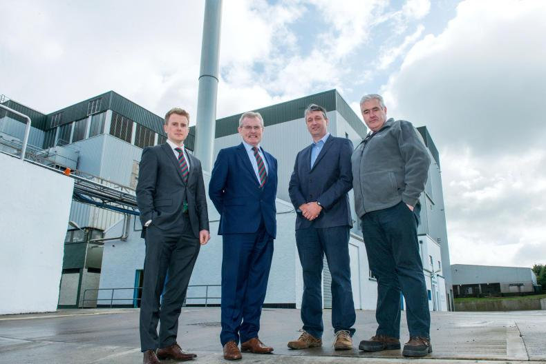 Enda Gallen, international sales manager, Gabriel D'Arcy, LacPatrick's chief executive, Alan McCay farmer supplier and board member and Eamonn O'Malley, general manager at Artigarvan, at the official opening of the company's new Dairy Technology Centre.
