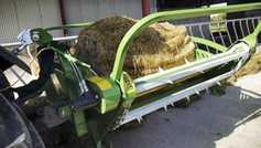 Watch: rolling out bales the easy way