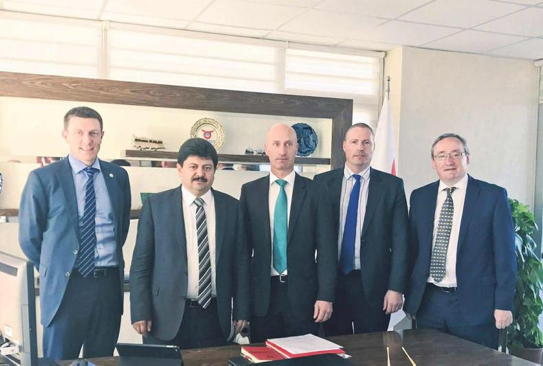 Joe Burke, Bord Bia Beef and Livestock Manager, meeting with Mr Ethem Kalin, Director General of ESK (Turkish Meat and Milk Board) along with Angus Woods, IFA National Livestock Chairman, Michael Hussey, Bord Bia Middle East Manager and Kevin Kinsella, IFA Director of Livestock.