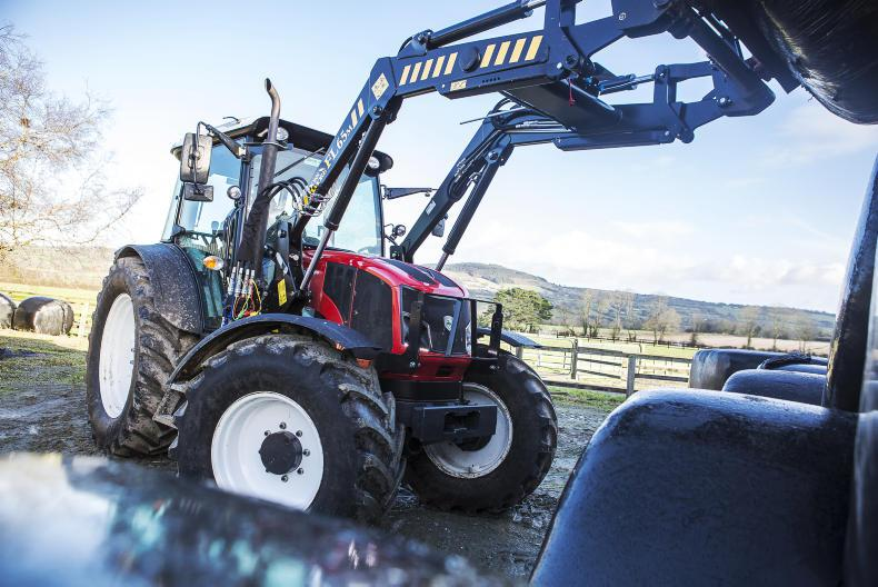 The Armatrac 1104 was at home with a Rossmore 65m front loader