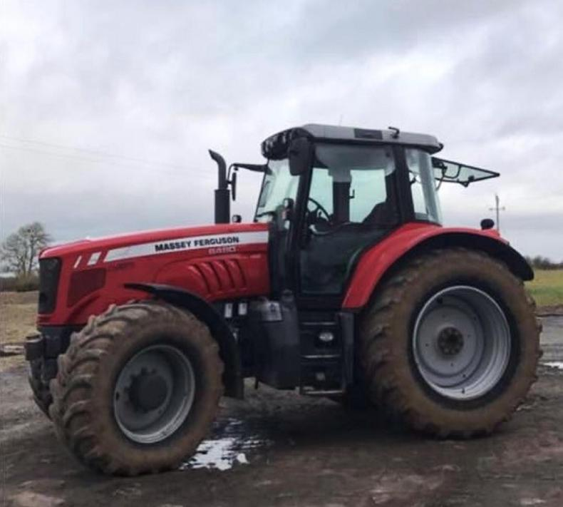 The Massey Ferguson 6480 that was stolen in Mountmellick.
