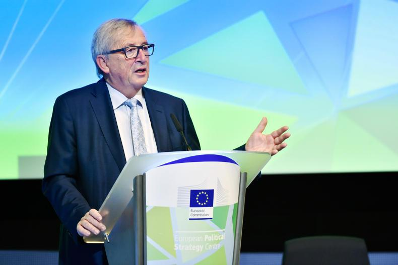 EU Commission President Jean Claude Junker, speaking at the