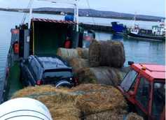 In pictures: emergency hay reaches Donegal islands