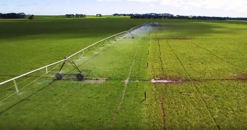It includes 700ha of land covered by central pivots. \ Duncan McKenzie (YouTube)
