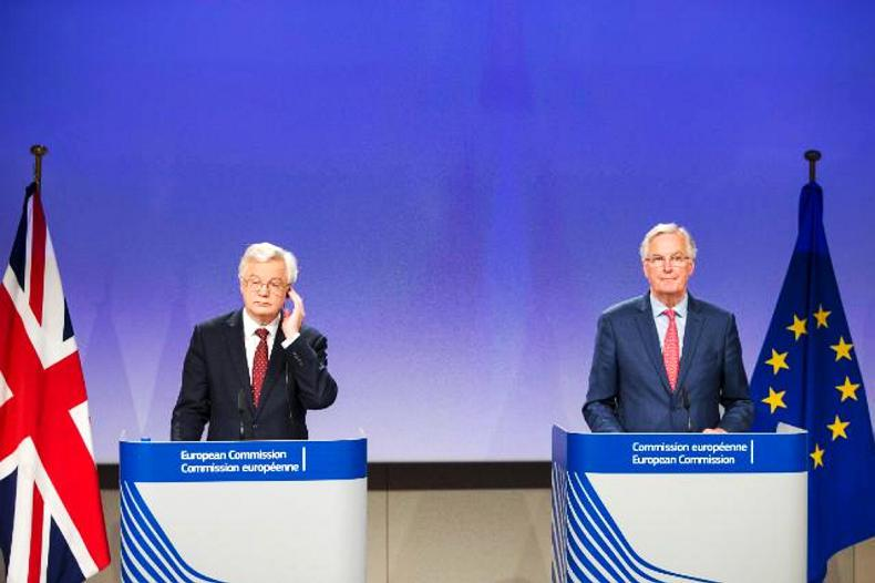 David Davis and Michel Barnier were involved in fiesty exchanges this week.