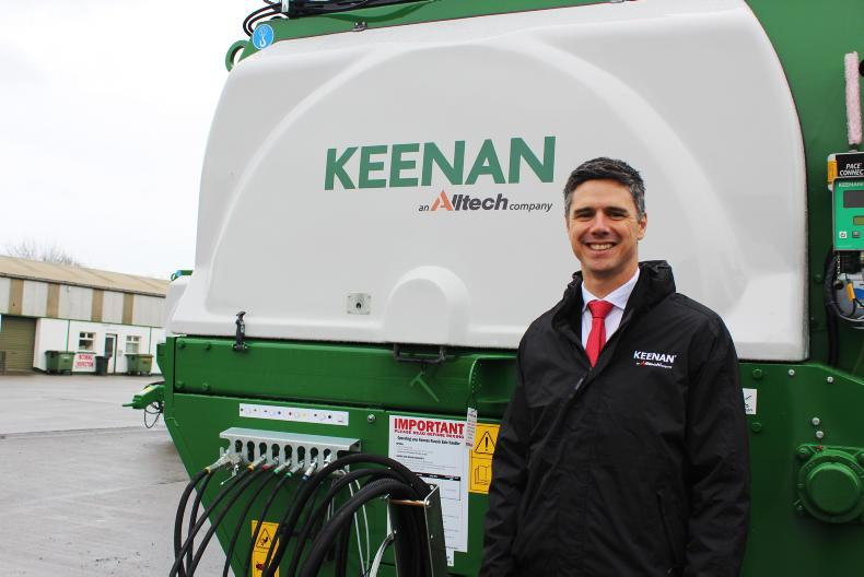 Keenan which was purchased by Alltech in 2016. Pictured is Robbie Walker, CEO Keenans.