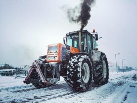 In pictures: machines at work in the snow