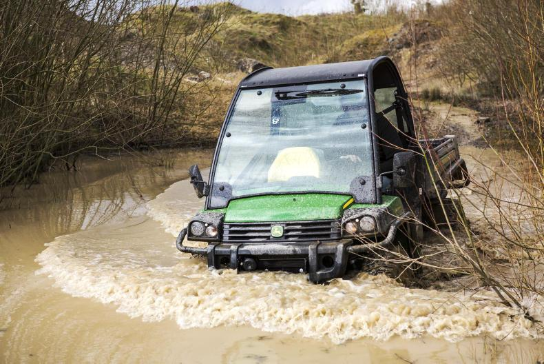 Before entering any type of challenging terrain including water the correct gear and differential setting should be chosen. \ Philip Doyle