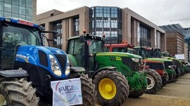 Belgian farmers protest Mercosur and changes to CAP
