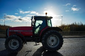 Charity tractor run on Easter Sunday