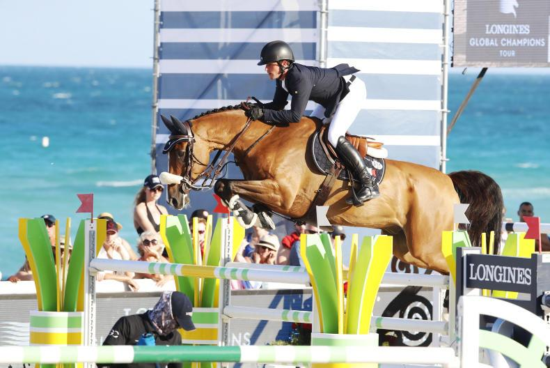 Darragh Kenny and Cassini Z placed third in the Global Champions Tour Grand Prix at Miami Beach. \ Stefano Grasso/LGCT.