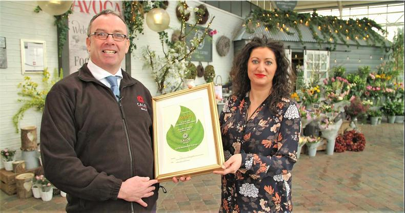 Avoca in Dunboyne, Co Meath, became the first customer for Calor BioLPG. Calor sales representative Larry Smith presents Alex Lloyd, store manager of Avoca Dunboyne, with a certificate to mark their commitment to a new sustainable energy source.